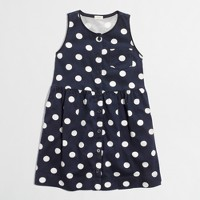 Factory girls' button-down dotted dress