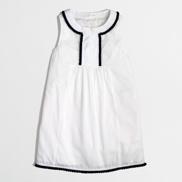 Factory girls' pom-pom dress