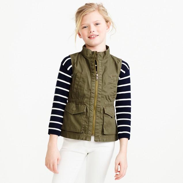 Girls' utility vest
