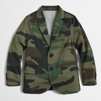Factory boys' unconstructed Thompson sportcoat in camo