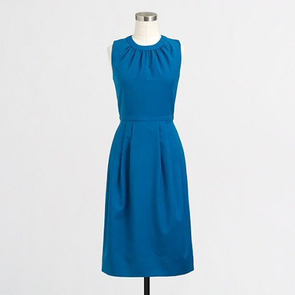 Factory pleated wool dress