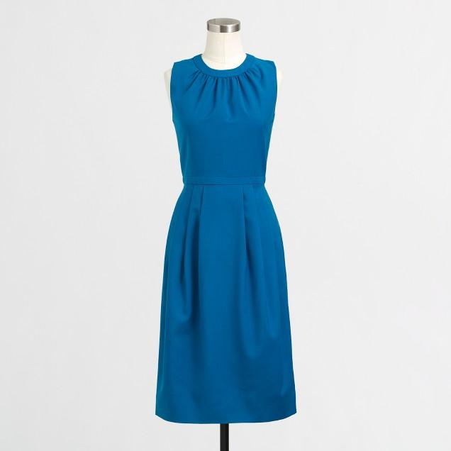 Factory pleated wool dress