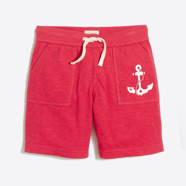 Boys' graphic knit pull-on short