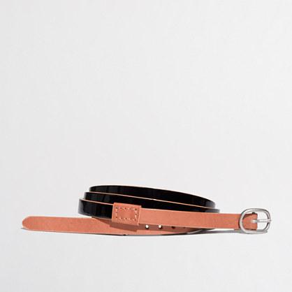 Factory colorblock patent belt