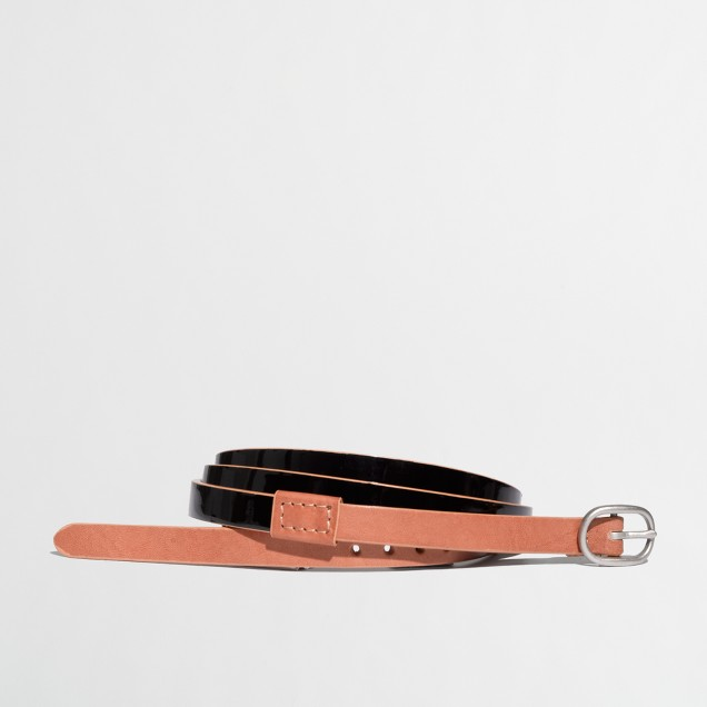 Factory colorblock patent belt