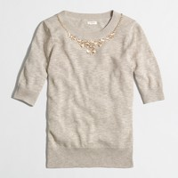 Factory short-sleeve embellished Charley sweater