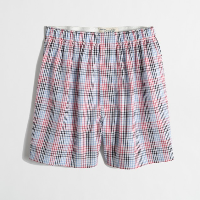 Factory checkered boxers