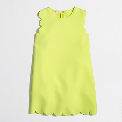 Factory girls' scalloped shift dress : Dresses | J.Crew Factory