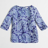 Girls' printed button-back top