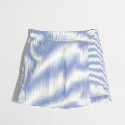 Factory girls' seersucker skort