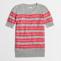 Factory short-sleeve sweater in stripe