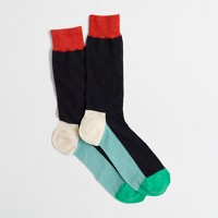 Factory colorblock socks