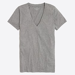 Factory heathered layering V-neck T-shirt