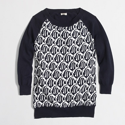 Factory Charley sweater in school of fish