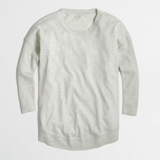 Drapey cotton sweater