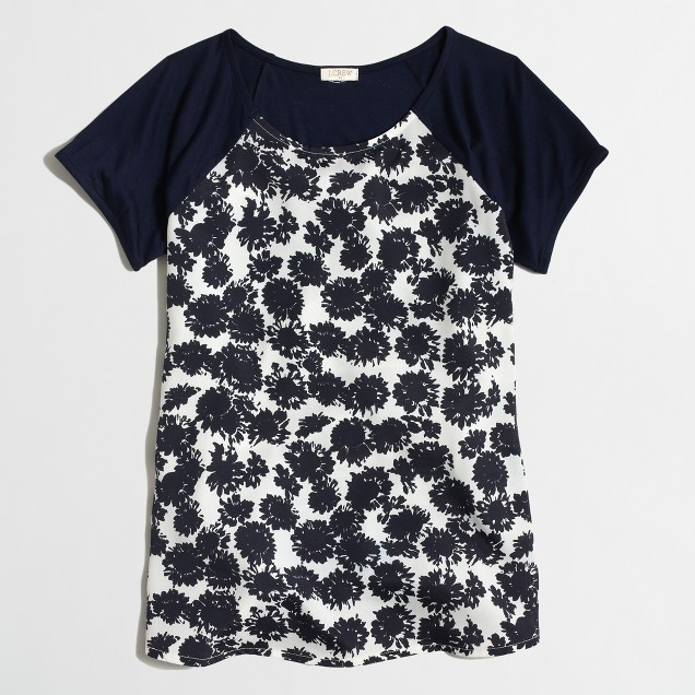 Factory floral panel tee
