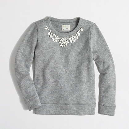 Factory girls' necklace sweatshirt