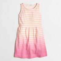 Factory girls' stripe dip-dye dress