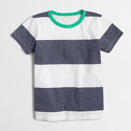 Boys' rugby-striped T-shirt