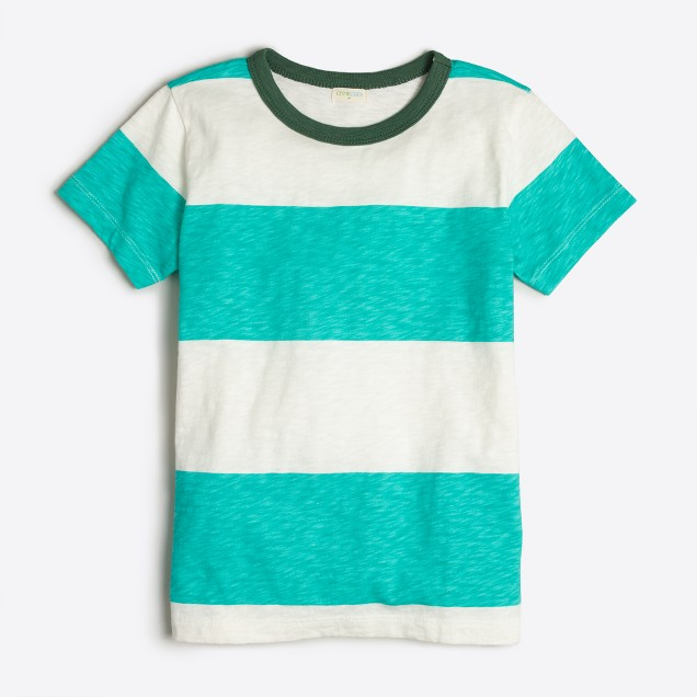 Boys' rugby-striped T-shirt