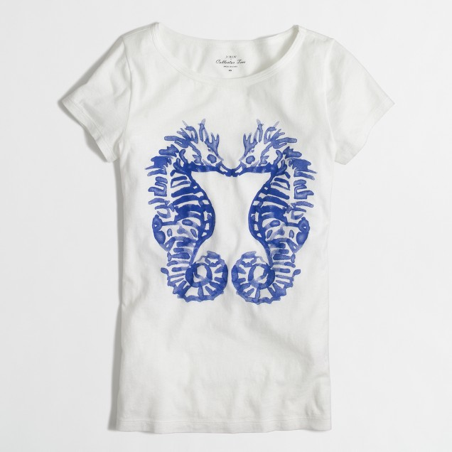 Factory sea horse collector tee