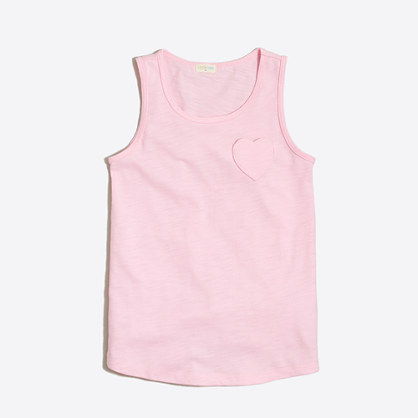 Girls' heart pocket tank top