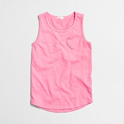Factory girls' heart pocket tank top