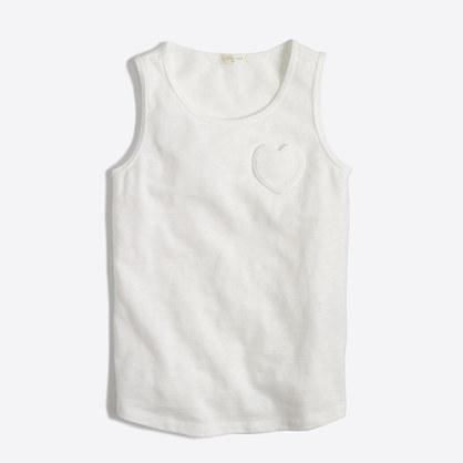 Girls' heart pocket tank top