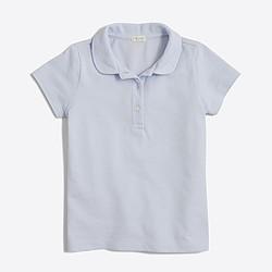 Girls' Peter Pan collar piqué polo shirt