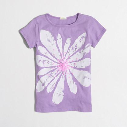 Girls' flower blossom keepsake T-shirt