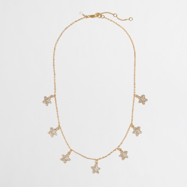 Factory girls' starfish charm necklace