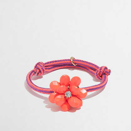 Factory girls' floral rope bracelet