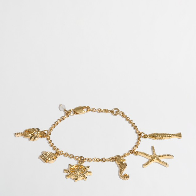 Factory girls' nautical charm bracelet