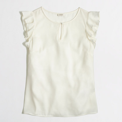 Factory flutter-sleeve top