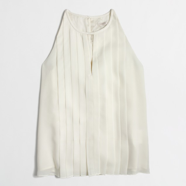 Factory pleated keyhole top