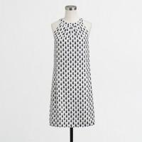 Factory printed circle-neck dress