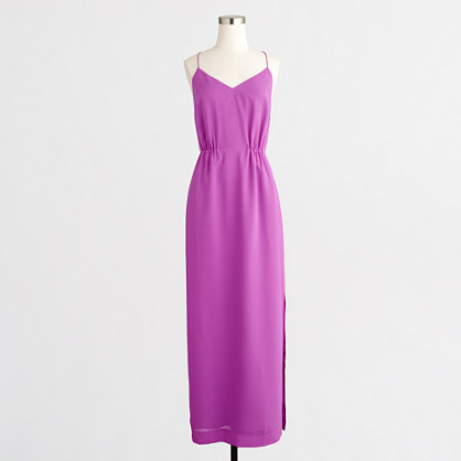 Petite racerback maxi dress