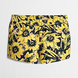 "Factory 3"" printed boardwalk pull-on short"