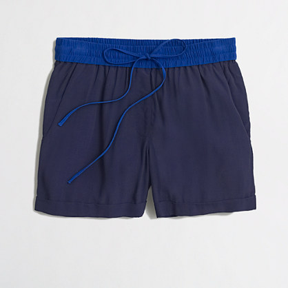Factory slouchy drawstring short