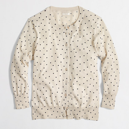 Factory Clare cardigan in little dot
