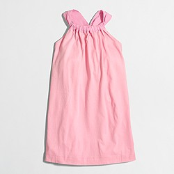 Factory girls' bow-back dress