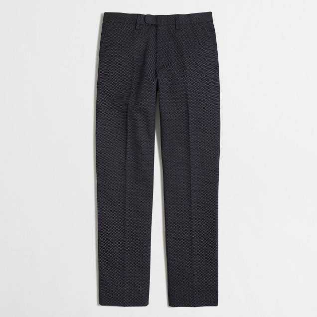 Factory slim printed Bedford pant