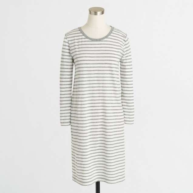 Factory long-sleeve stripe tee dress