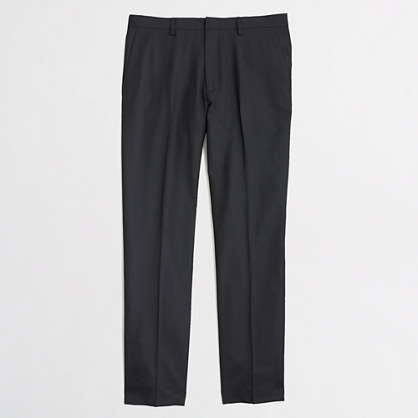 Factory Thompson suit pant in black wool