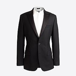 Factory peak-lapel tuxedo jacket in wool