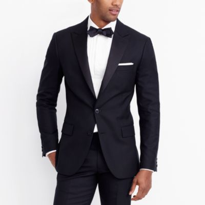 Peak-lapel tuxedo jacket in wool factorymen tall c