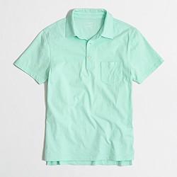 Factory slim jersey polo shirt