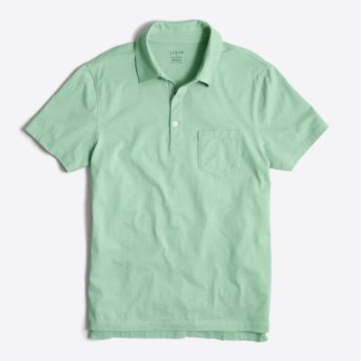 Slim jersey polo shirt
