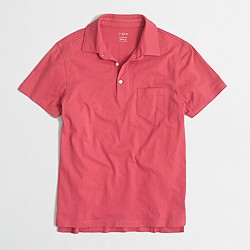Factory slim jersey polo shirt