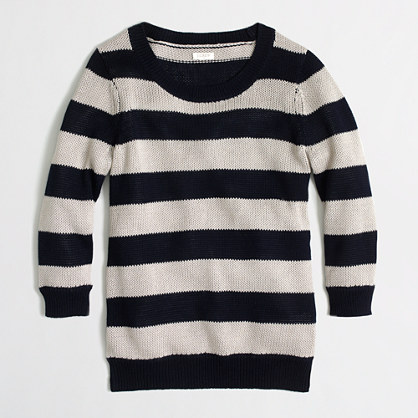 Factory beach sweater in stripe